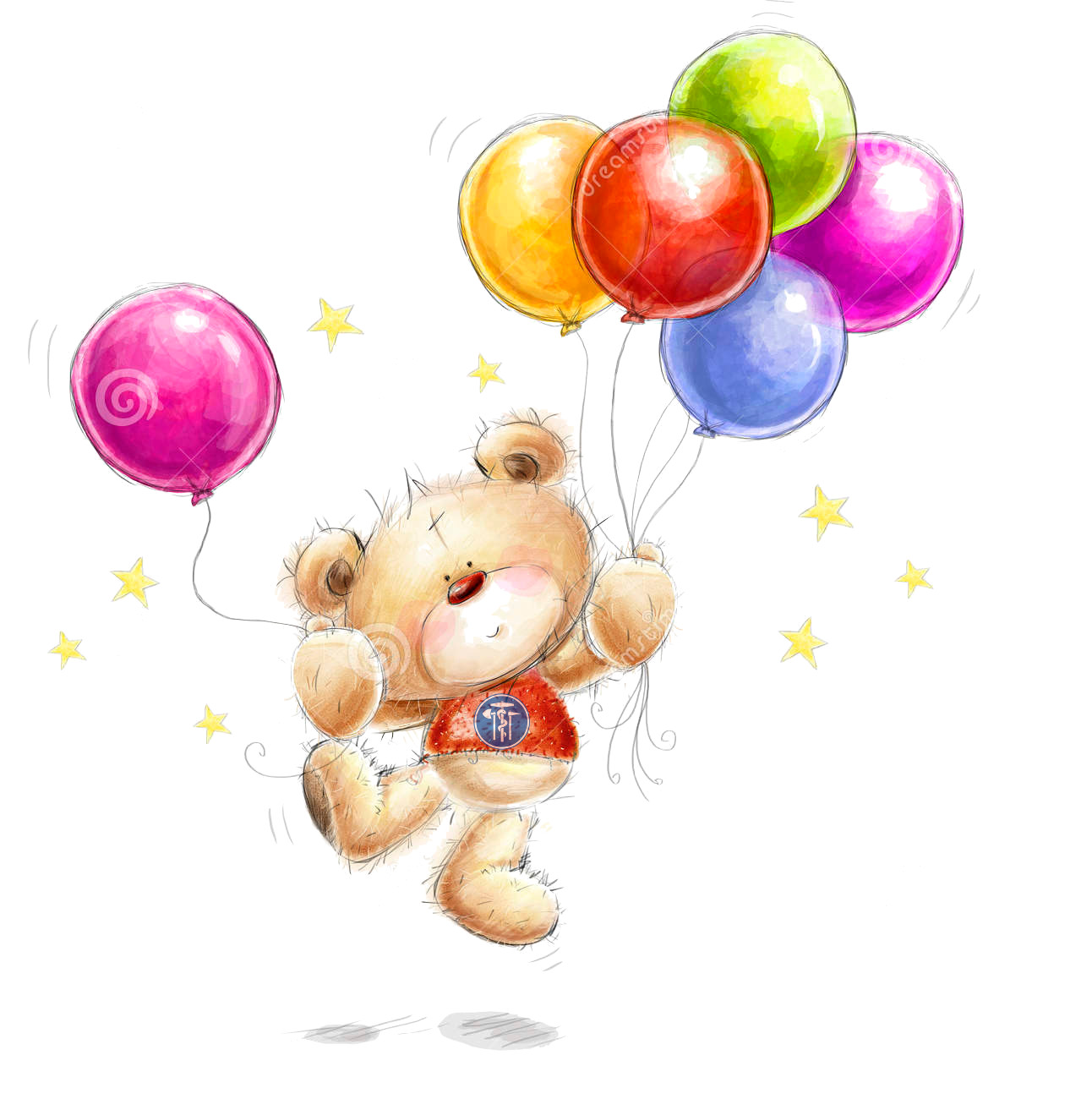 http://www.dreamstime.com/royalty-free-stock-photos-birthday-greeting-card-cute-teddy-bear-colorful-balloons-stars-background-hand-drawn-white-background-image42161428