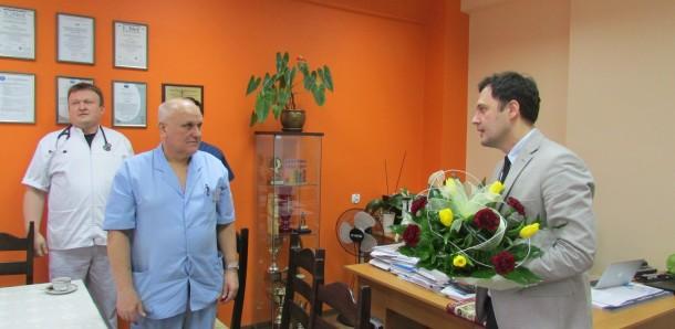 Uroczyste pożegnanie długoletniego Ordynatora Oddziału Chirurgii Ogólnej i Urazowej