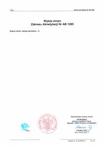 Akredytacja PCA 2 zakres 2210720211 07-23-2021
